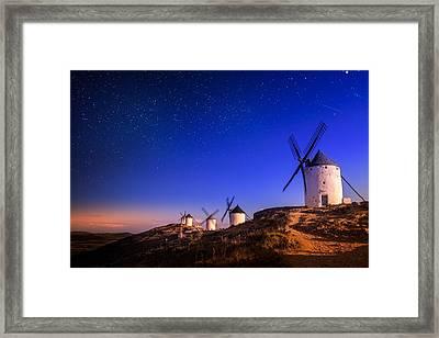 Windmills Framed Print by Borislav Aleksiev