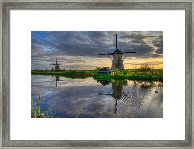 Windmills Framed Print by Chad Dutson