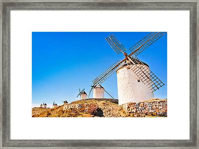 Windmills In Spain Framed Print by JR Photography