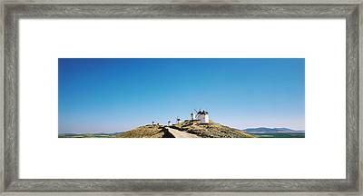 Windmills La Mancha Consuegra Spain Framed Print by Panoramic Images