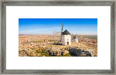 Windmills Of Consuegra Framed Print by JR Photography