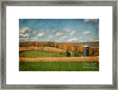 Windmills On The Horizon Framed Print by Lois Bryan