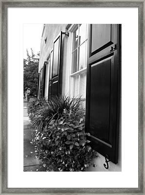 Window Box Framed Print by Kelly Hazel
