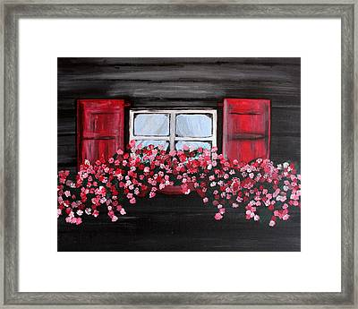 Window Box Framed Print by Vicki Kennedy