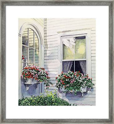 Window Boxes Framed Print by David Lloyd Glover
