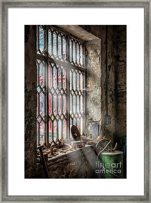 Window Decay Framed Print by Adrian Evans