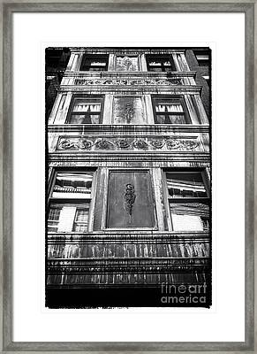 Window Design Framed Print by John Rizzuto