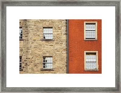 Window Detail Edinburgh Framed Print by Jane Rix