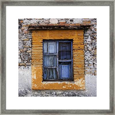 Window Detail Mexico Square Framed Print by Carol Leigh