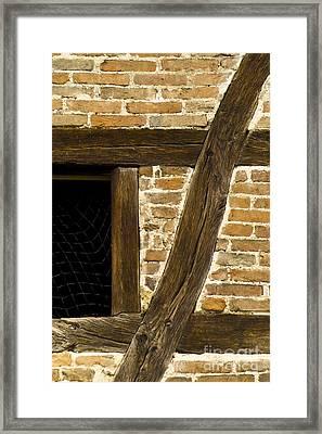 Window Frame Detail 1 Framed Print by Heiko Koehrer-Wagner