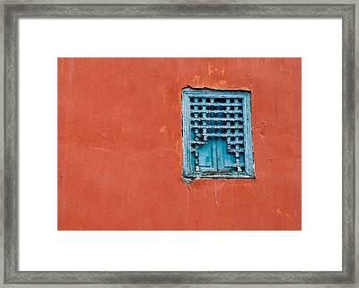 Window In Marrakesh Framed Print by Daniel Kocian