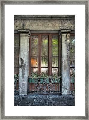 Window In The Quarter Framed Print by Brenda Bryant