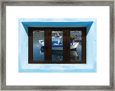 Window Into Greece  Framed Print by Eric Kempson