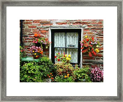 Window Framed Print by Lenore Senior and Constance Widen