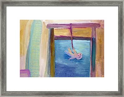 Window  Of My Childhood Framed Print by Simonas Pazemeckas