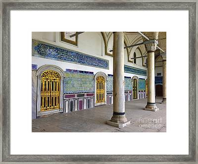 Window Of The Chamber Of The Holy Mantle In The Topkapi Palace Istanbul Turkey Framed Print by Ralph A  Ledergerber-Photography