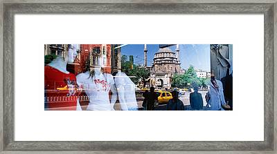 Window Reflection, Istanbul, Turkey Framed Print by Panoramic Images