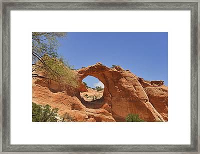Window Rock Arizona Framed Print by Christine Till