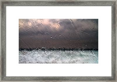 Window Sea Storm Framed Print by Stelios Kleanthous