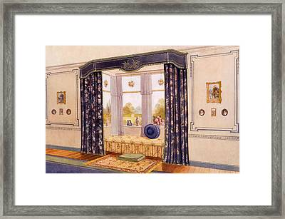 Window Seat Encased By Luxurious Framed Print by Richard Goulburn Lovell