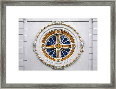 Window St Mary's Church New Orleans Framed Print by Christine Till