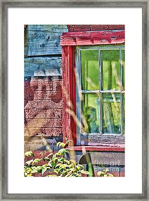 Window Story Framed Print by Cathy  Beharriell