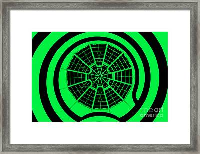 Window To Another World In Green - Black Framed Print by Az Jackson