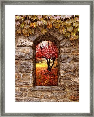 Window To Autumn Framed Print by Jessica Jenney
