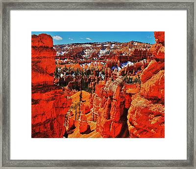 Window To Bryce Framed Print by Benjamin Yeager
