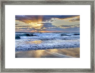 Window To Heaven Framed Print by Debra and Dave Vanderlaan