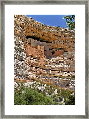 Window To The Past - Montezuma Castle Framed Print by Christine Till