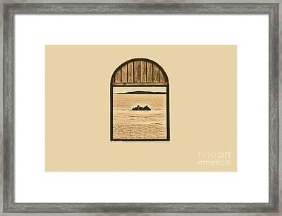 Window View Of Desert Island Puerto Rico Prints Rustic Framed Print by Shawn O'Brien