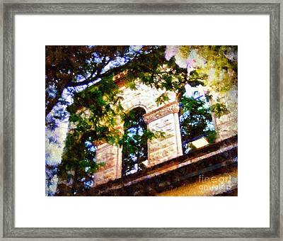 Window Views Framed Print by Janine Riley