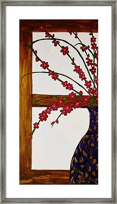 Window With A View Framed Print by Celeste Manning