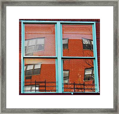 Windows In The Heights Framed Print by Sarah Loft