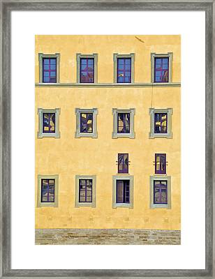 Windows Of Florence Framed Print by David Letts