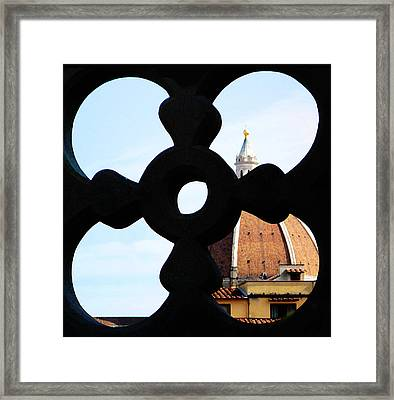 Windows Of Florence View From Ufizzi Gallery Roof Framed Print by Irina Sztukowski