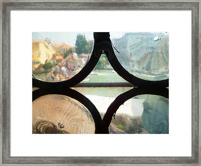 Windows Of Venice View From Art Academy Framed Print by Irina Sztukowski