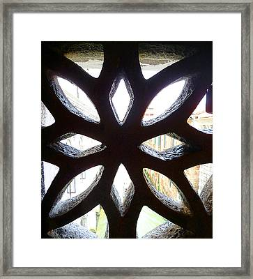 Windows Of Venice View From Doge Palace Framed Print by Irina Sztukowski