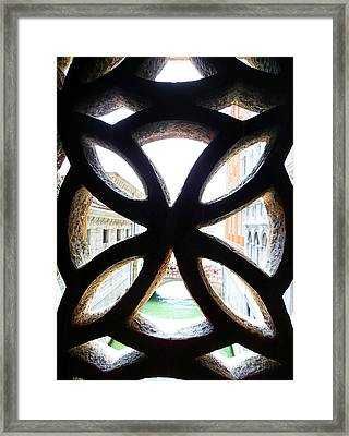Windows Of Venice View From Palazzo Ducale Framed Print by Irina Sztukowski