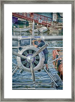 Windshield Wiper Framed Print by Trever Miller