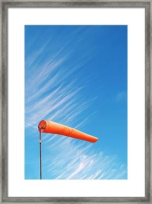 Windsock Framed Print by David Aubrey