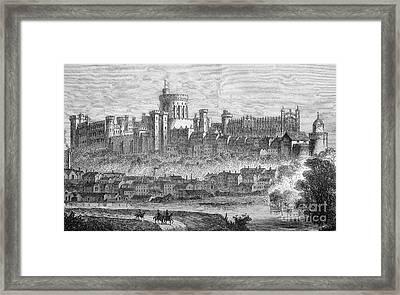 Windsor Castle, 1880s Framed Print by Bildagentur-online