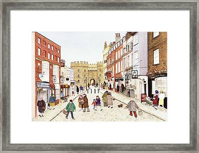 Windsor Castle, 1989 Watercolour On Paper Framed Print by Gillian Lawson