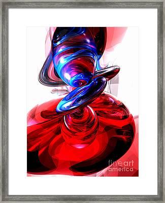 Windstorm Abstract Framed Print by Alexander Butler