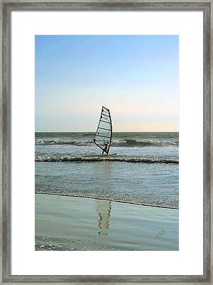 Windsurfing Framed Print by Ben and Raisa Gertsberg