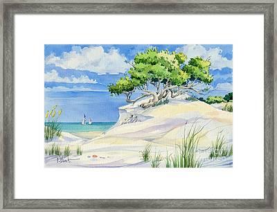 Windswept Dunes Framed Print by Paul Brent