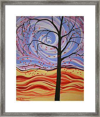 Windswept Framed Print by Kathy Peltomaa Lewis