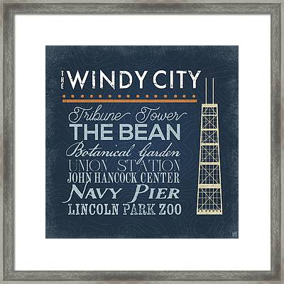 Windy City Framed Print by Aubree Perrenoud