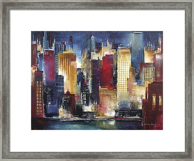 Windy City Nights Framed Print by Kathleen Patrick